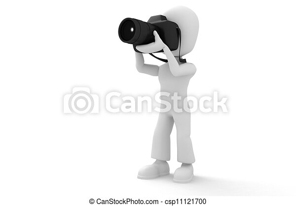 3d man photographer - csp11121700