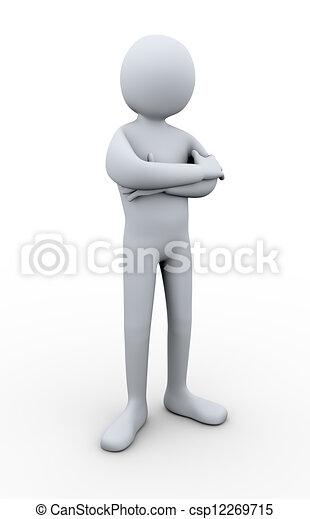 3d man posing - csp12269715