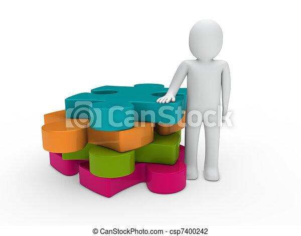 3d man puzzle - csp7400242