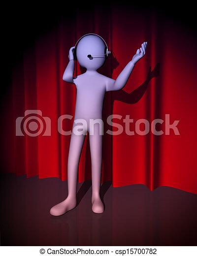 3d man singer - csp15700782