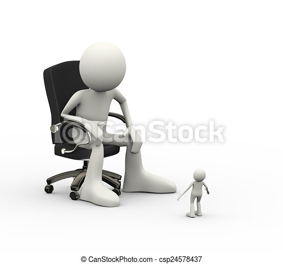 Groovy 3D Man Sitting On Chair And Small Person Ibusinesslaw Wood Chair Design Ideas Ibusinesslaworg