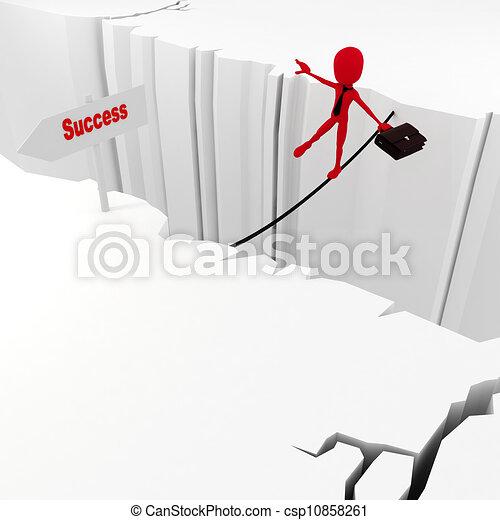 3d man success in business concept - csp10858261