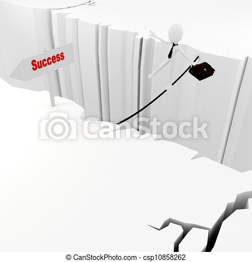 3d man success in business concept - csp10858262