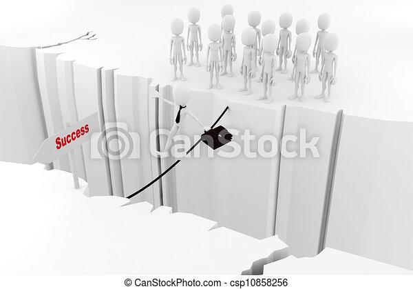 3d man success in business concept - csp10858256