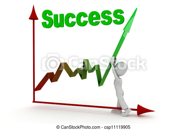 3d man success in business - csp11119905