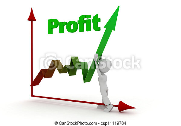 3d man success in business - csp11119784