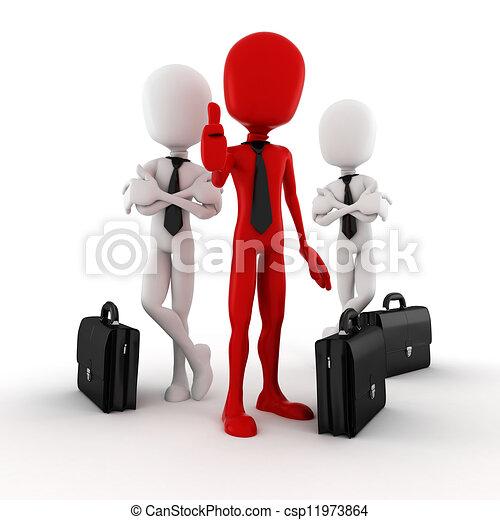 3d man success in business - csp11973864