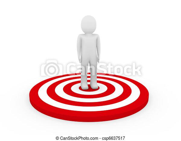 3d man target - csp6637517