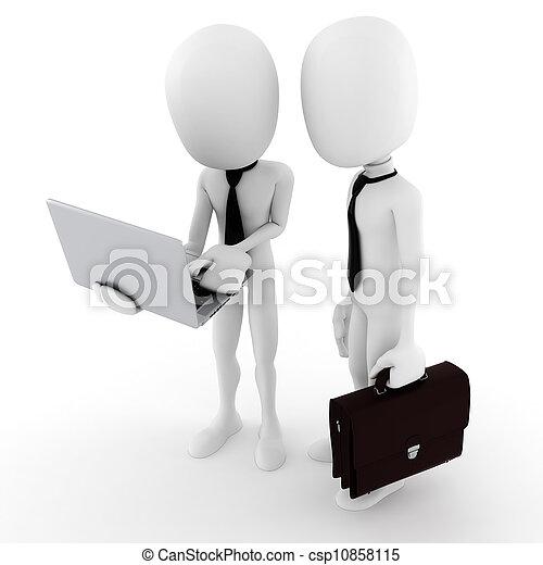 3d man team work, business concept - csp10858115
