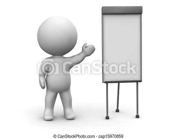 3d man whiteboard presentation 3d guy teaching something at a
