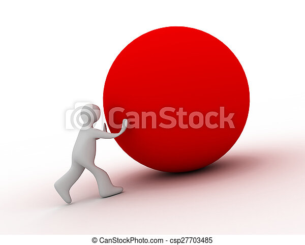 3d man with ball - csp27703485