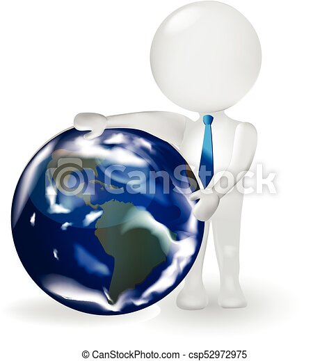 3d man with globe world map 3d small people business man with earth 3d man with globe world map csp52972975 gumiabroncs Choice Image