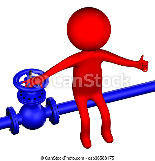 3d man with pipeline with valve 3d rendering 3d man with stock rh canstockphoto ie pipeline clip art free clipart pipeline construction