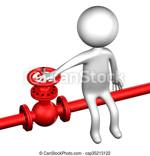 3d man with pipeline with valve isolated on white background 3d rh canstockphoto com pipeliner clipart oil pipeline clipart