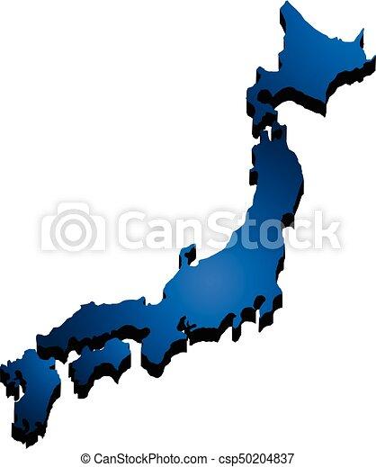 Vectors Of D Map Japan Vector Illustration Csp Search - Japan map 3d