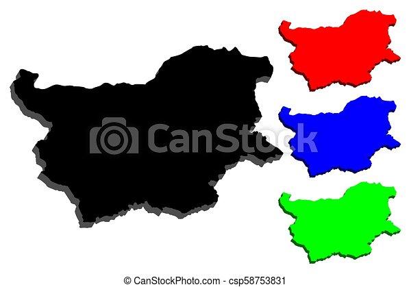 3D map of Bulgaria - csp58753831