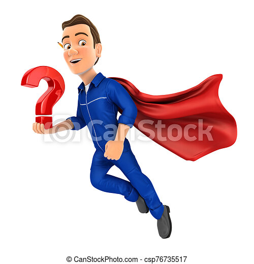 3d, marca, vuelo, mecánico, tenencia, pregunta - csp76735517