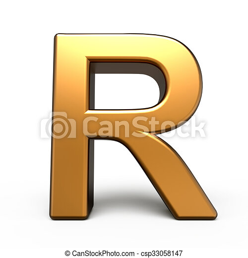 3d matte gold letter r isolated on white background drawing search 3d matte gold letter r csp33058147 thecheapjerseys Images