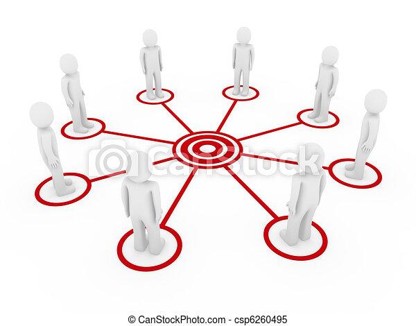 3d men connection  - csp6260495