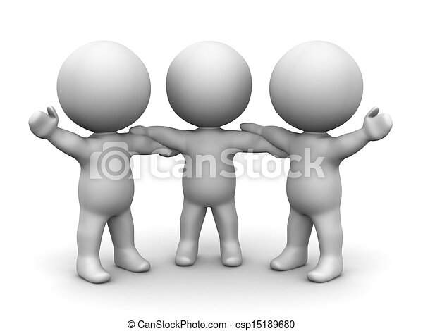 Line Drawing Holding Hands : D men holding hands teamwork concept three