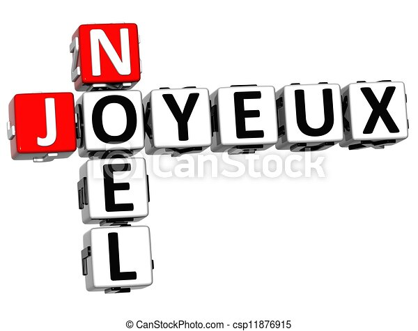 3d merry christmas in french language crossword on white background rh canstockphoto com french language clipart World Language Clip Art