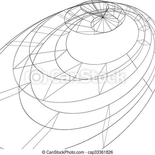 3d Mesh Modern Stylized Abstract Background Monochrome Geometric