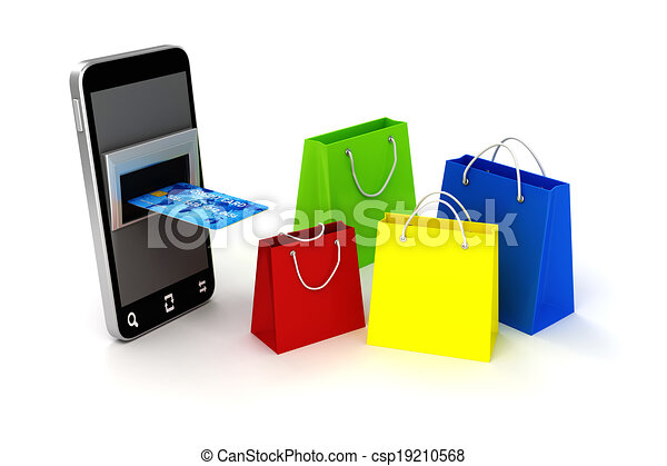 0e6fea01be1 3d mobile phone and credit card
