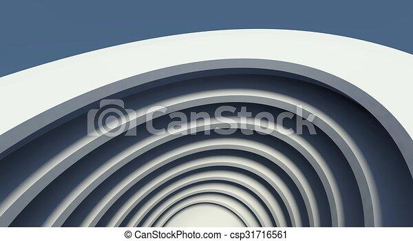 3d modern architecture interior - csp31716561