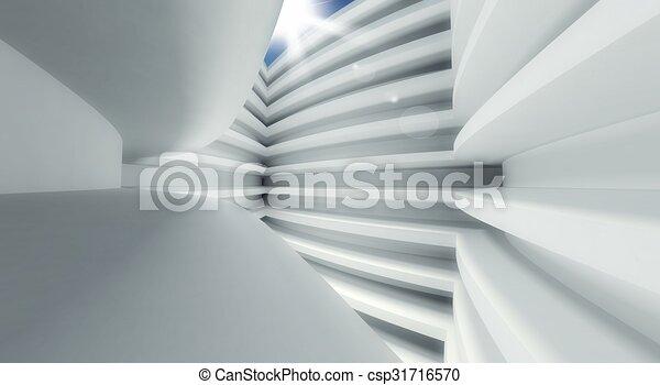 3d modern architecture interior - csp31716570