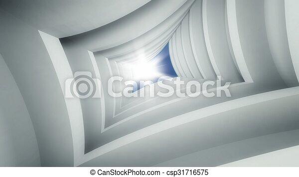 3d modern architecture interior - csp31716575
