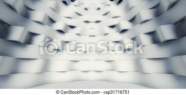 3d modern architecture interior - csp31716751