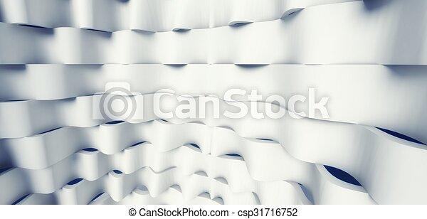 3d modern architecture interior - csp31716752