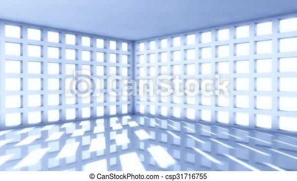 3d modern architecture interior with window - csp31716755