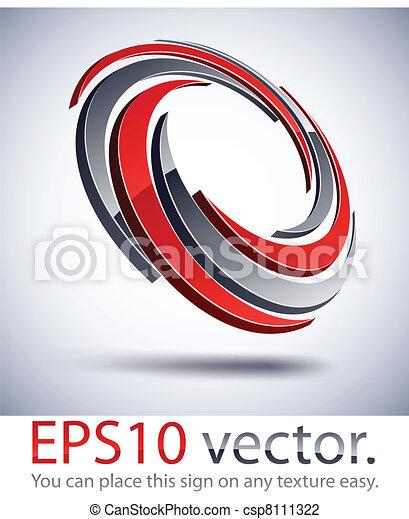 3D modern impeller logo icon. - csp8111322
