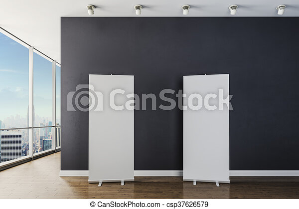 3d modern interior with elevator an - csp37626579