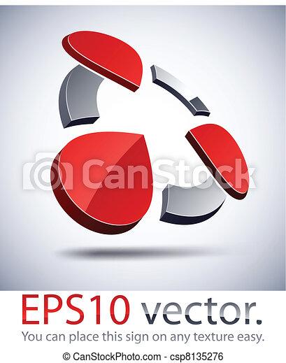 3D modern logo icon. - csp8135276