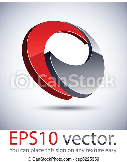 3D modern logo icon. - csp8225359