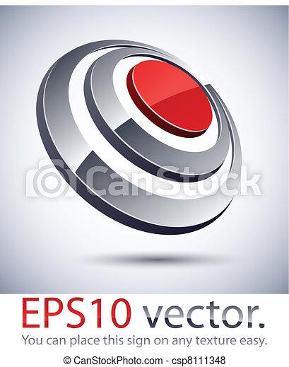 3D modern logo icon. - csp8111348