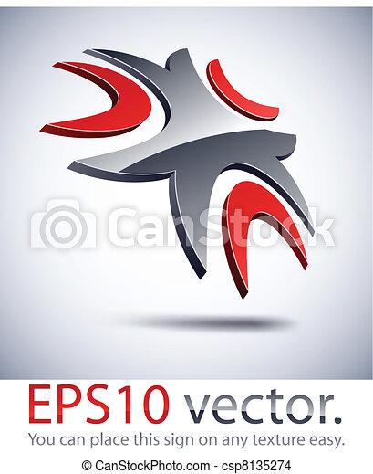 3D modern logo icon. - csp8135274
