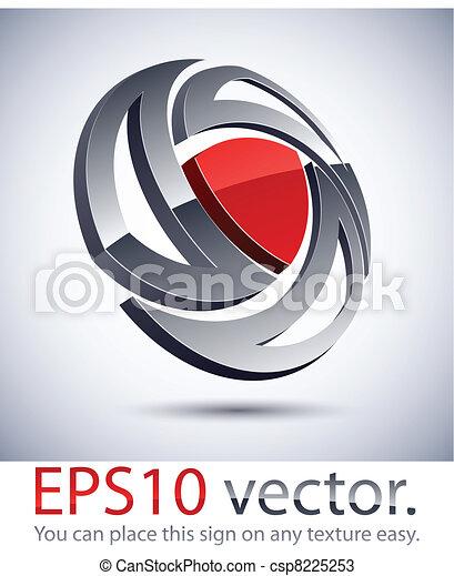 3D modern logo icon. - csp8225253