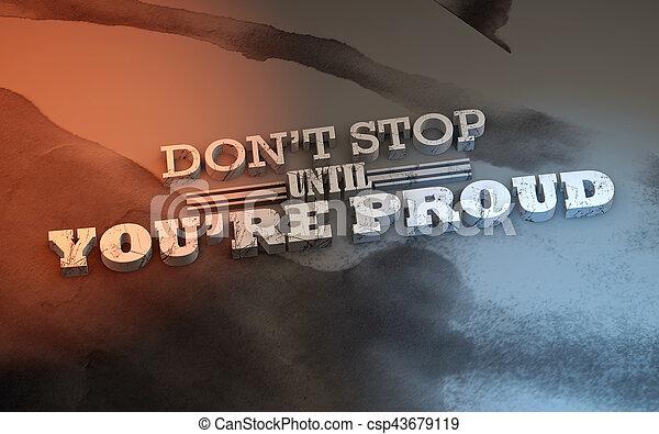 3D Motivational poster - csp43679119