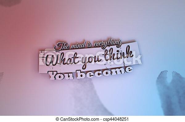 3D Motivational poster - csp44048251