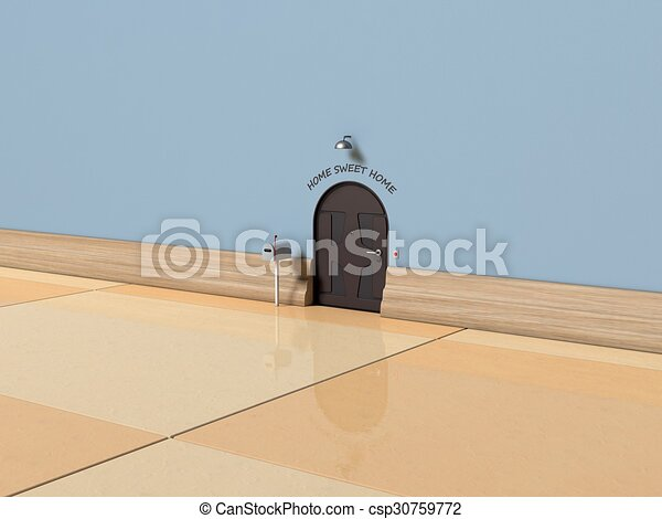 3d mouse home illustration with text home sweet home for Sweet home 3d italiano