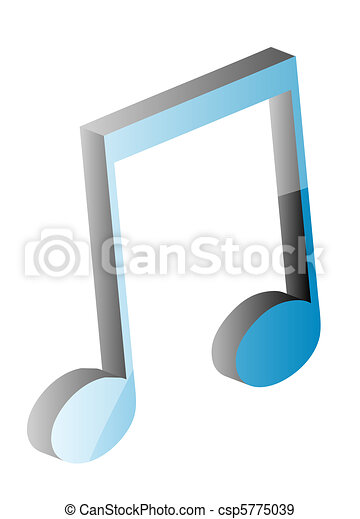 3D musical note - csp5775039