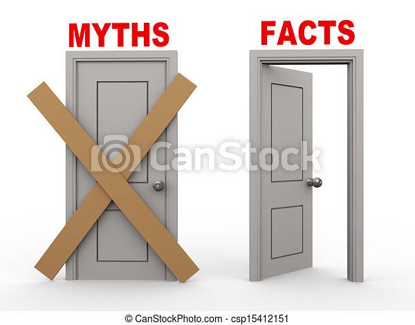 3d myth and fact doors - csp15412151