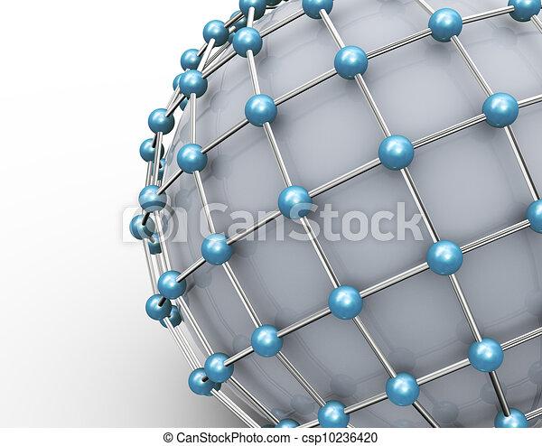 3d network concept - csp10236420