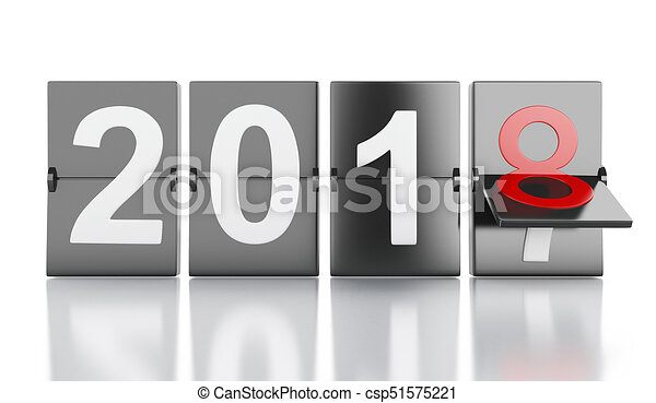3d new year 2018 csp51575221