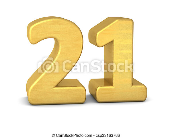 3d number 21 gold stock illustration - Search EPS Clip Art ... on
