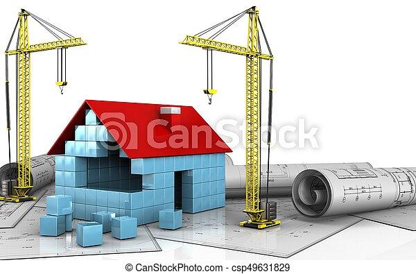 3d of crane - csp49631829