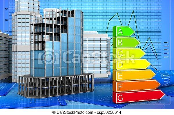 3d of modern building frame - csp50258614